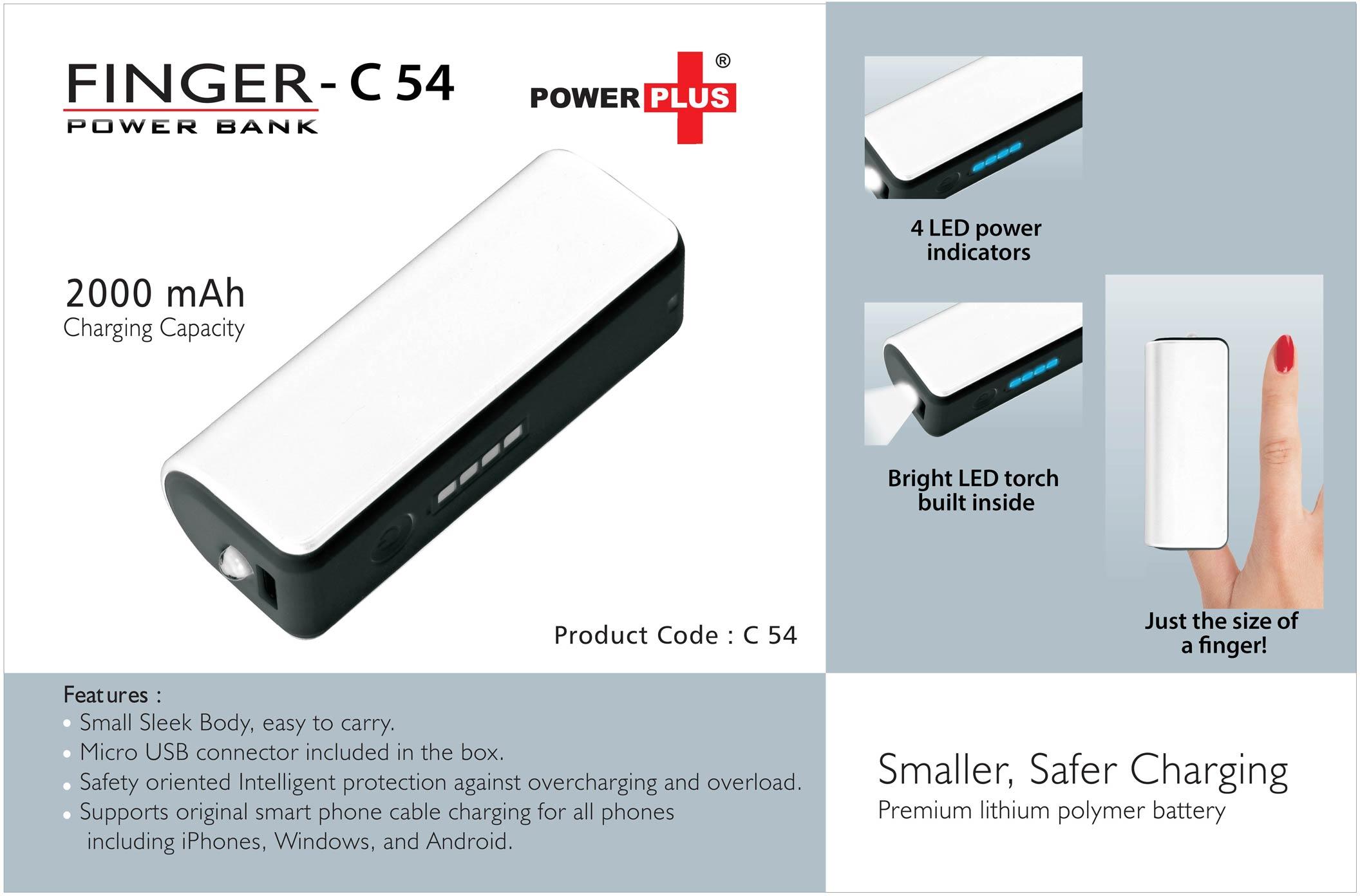 Finger power bank (2000 mAh)